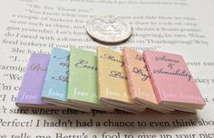 Miniature Book Collection / Set of Jane Austen Books by carielewyn