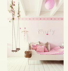 #kinderkamer #lief #schommel #roze @issy_1112 #home #kids #pink #home #sleep #bed