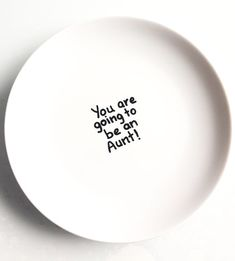 Pregnancy announcement plate you are going to a be by Gliadesign