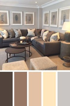 Cozy Living Room Paint Colors - Interior Design Ideas & Home Decorating Inspirat. - - Cozy Living Room Paint Colors - Interior Design Ideas & Home Decorating Inspiration - moercar Living Room Decor Brown Couch, Grey And Brown Living Room, Cozy Living Rooms, Living Room Grey, Apartment Living, Living Area, Dream Apartment, Living Room Ideas For Brown Furniture, Apartment Ideas