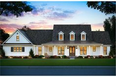 Perfectly designed with all the comfort and convenience of the family! in mind, this Colonial Georgian style home with Contemporary characteristics is surrounded by an abundance of windows providing natural light – making the house airy and bright. Modern Farmhouse Plans, Farmhouse Design, Country Farmhouse, Farmhouse Bedrooms, Modern Floor Plans, Modern Country, Style At Home, Master Suite, Master Bedroom