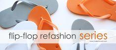 Flip-Flop Refashion: Part 1 (Braided Straps)