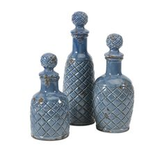 Found it at Wayfair - 3 Piece Antonini Decorative Bottle Set