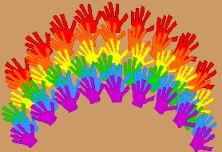 sweet craft for the party- Iris can have it for her room afterward! Rainbow Theme Crafts for Kids - Enchanted Learning Software Kids Crafts, Fun Projects For Kids, St Patrick's Day Crafts, Toddler Crafts, Preschool Crafts, Art For Kids, Activities For Kids, Arts And Crafts, Preschool Education