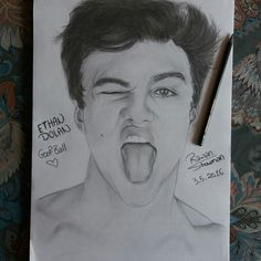 Ethan Dolan drawing  Dolan twins beauty  Graphite drawing/Follow my IG for more @rawandrawings