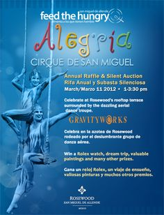 Special Performance of Alegría Cirque de San Miguel to Benefit Non-Profit Feed the Hungry San Miguel