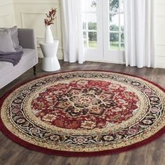 Shop for Safavieh Lyndhurst Traditional Oriental Red/ Black Rug (8' Round). Ships To Canada at Overstock.ca - Your Online Home Decor Outlet Store!  - 10544913