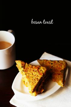 bread besan toast recipe with step by step photos. these besan toast taste like a low fat version of bread pakora minus the aroma and flavor of ajwain/carom seeds.