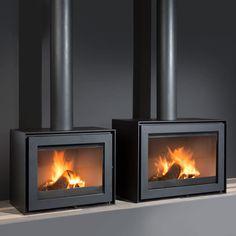 Poele a bois Wanders Smart-Black-Edition Wood Burning Logs, Log Burning Stoves, Home Fireplace, Modern Fireplace, Fireplaces, Modern Stoves, Cladding Design, Freestanding Fireplace, Log Burner