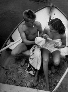 Debutante Fay Mitchell (R) going for pre-breakfast swim with her beau. (Photo by Lisa Larsen//Time Life Pictures/Getty Images) June 1951 Black White Photos, Black And White Photography, Lisa, Robert Doisneau, Vintage Swimsuits, Pretty Pictures, Life Pictures, Vintage Images, Vintage Pictures
