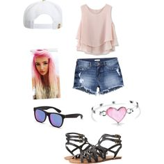 Untitled #8 by kaylee-hinze on Polyvore featuring polyvore, fashion, style, Chicwish, H&M, Volcom, Bling Jewelry, RetroSuperFuture and RVCA
