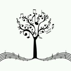 music tree of life Music Tattoo Designs, Music Tattoos, Tattoo Noten, Music Tree, Music Drawings, Note Tattoo, Music Crafts, Tree Of Life, Line Art