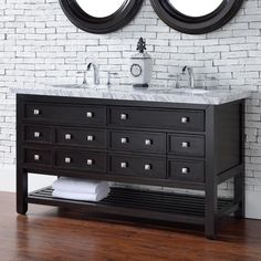 James Martin Vancouver 57.5 in. Double Bathroom Vanity