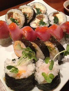 Sushi Time in San Francisco, CA features rolls named after things like hello kitty Barbie and gi joe