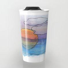 Sunset Dreaming - Watercolor Design Travel Mug