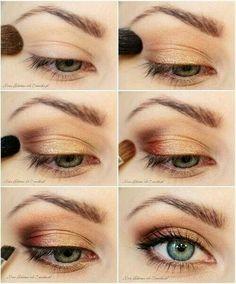 Como lograr un maquillaje natural ¡en sólo 7 pasos! #Maquillaje #MaquillajeNatural #PasoaPaso #Tutorial #MaquillajeParaOjos #TonosDorados
