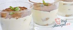 Recept Originální TIRAMISU v pohárech Tiramisu Dessert, Tiramisu Original, Cake Recipes, Panna Cotta, Sweet Treats, Food And Drink, Pudding, Cookies, Baking