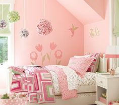 The little girl wants pink...I'm too cheap for pottery barn so will hit Marshall's!.....lol