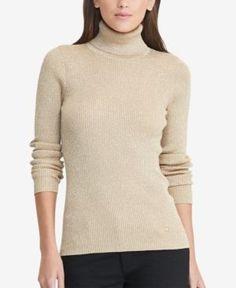 Lauren Ralph Lauren Ribbed Turtleneck Sweater -