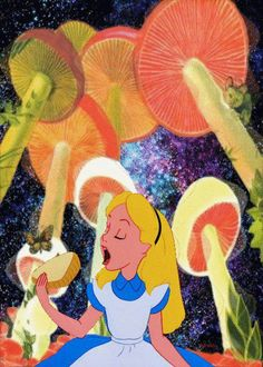 Trendy trippy art alice in wonderland tim burton ideas Alice In Wonderland Mushroom, Alice In Wonderland Aesthetic, Adventures In Wonderland, Wonderland Alice, Psychedelic Art, Tumblr Trippy, Trippy Quotes, Overlays, Arte Dope