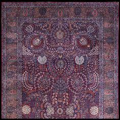 Kerman Rug - 21896 | Persian Formal  Origin Persia, Circa: 1920  #antiquerug #rahmanan #persianeug #antiquerugstudio #nyc