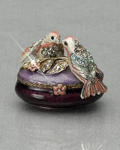 Lovebirds Trinket Box ~ Jay Strongwater