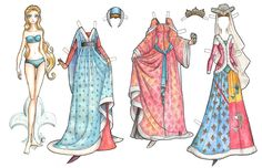 Free Printable Paper Dolls Online | Medieval Paper Doll | Celebrity Inspired Style, Hair, and Beauty