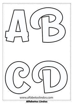 Moldes de  letras Printable Alphabet Letters, Alphabet Templates, Alphabet And Numbers, Lettering Tutorial, String Art Patterns, Paper Flowers Craft, Letter Stencils, Lettering Styles, Scrapbook Albums