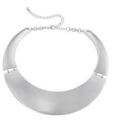 Statement necklace in silver - Bijou Brigitte