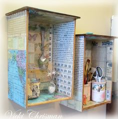 This art that makes me happy: Altered drawers and a Giveaway
