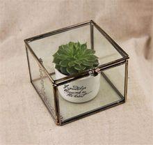 Mimi geométrica terrário de vidro / Cube / vidro artesanal planta Terrarium / moderno plantador para o interior de jardinagem decoração(China (Mainland))