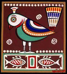 Earthly Beautiful Paintings by Jamini Roy : Life Stalker Jamini Roy, Bengali Art, Kalamkari Painting, Saree Painting, Indian Arts And Crafts, Madhubani Art, Indian Folk Art, Madhubani Painting, India Art
