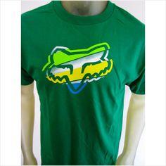NWT Fox Racing Co men's logo tee shirt Moto-X bike green size LARGE