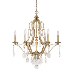 Capital Lighting 4186AG Blakely 6 Light Crystal Chandelier | ATG Stores