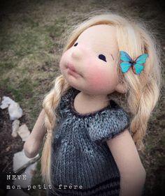 Neve-Natural Fiber Art doll by Mon Petit Frère