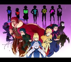 Fate Zero - servants and masters