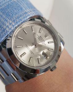 Rolex Datejust 41 Silver Baton Dial 126300