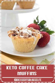 4.7 ★★★★★ - Bakery style almond flour muffins with a cinnamon streusel topping. These keto coffee cake muffins are going to be your new favorite breakfast! Oooh la la! These tender coffee cake muffins are a breakfast favorite. Low carb and sugar-free but they taste like your coffee chop favorite. Easy to make too!#DessertsBlogSelfe #muffins #ketorecipes #coffeecake #sugarfree #almondflour #coconutflour #HealthyDesserts #lowcarb #videos