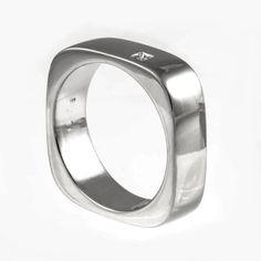 Men S Wedding Band Mans Anium Ring Uni Square Mens Modern Diamond
