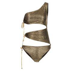 Nissa - Swimsuit In Metallic Shades