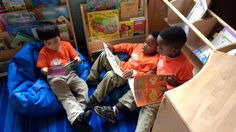 PreK-4 kiddos reading together at MSE@B! We believe in helping our students develop social, emotional and intellectual skills at an early age. #MSEBrentwood #MeetingStreetSchools #ShermanFinancialGroup #EarlyEducation