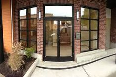 Commercial glass door entrance texture for building and ...