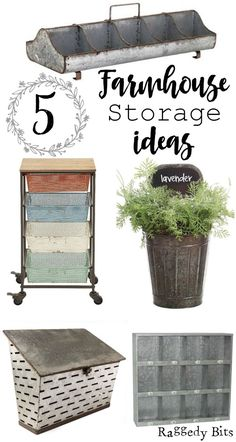 A collection of 5 Farmhouse Storage Ideas that are affordable and easy on the eye   http://www.raggedy-bits.com