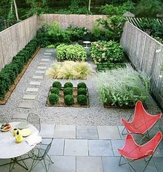 Idea for small backyard landscaping - cute, contemporary & clean looking