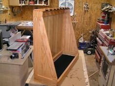 20 best vertical gun rack ideas images on gun Hidden Gun Storage, Weapon Storage, Gun Cabinet Plans, Cool Things To Build, Bow Rack, Rifle Rack, Reloading Room, Lumber Rack, Gun Rooms
