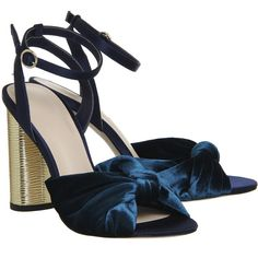 Office Natural Cylindrical Heel Sandals Teal Velvet (360 PLN) ❤ liked on Polyvore featuring shoes, sandals, heeled sandals, teal blue shoes, teal sandals, teal shoes and teal green shoes