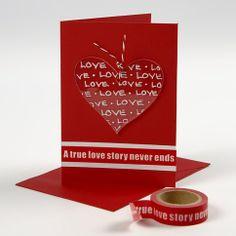 13505 Een Valentijnskaart met een gedecoreerd hart van Plexiglas
