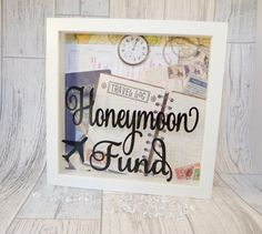 Honeymoon Fund Box Engagement Present by KreativKreationz on Etsy