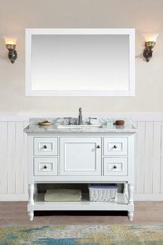 """Cape Cod 42"""" Bathroom Vanity White"""