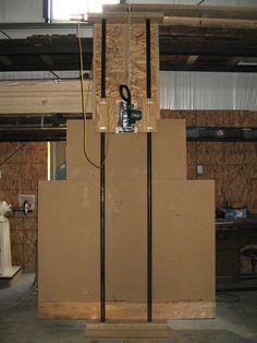 Resultado de imagem para DIY Panel Saw Plans Woodworking Images, Jet Woodworking Tools, Woodworking Workshop, Woodworking Projects, Sierra Vertical, Serra Circular, Best Circular Saw, Panel Saw, Tool Room